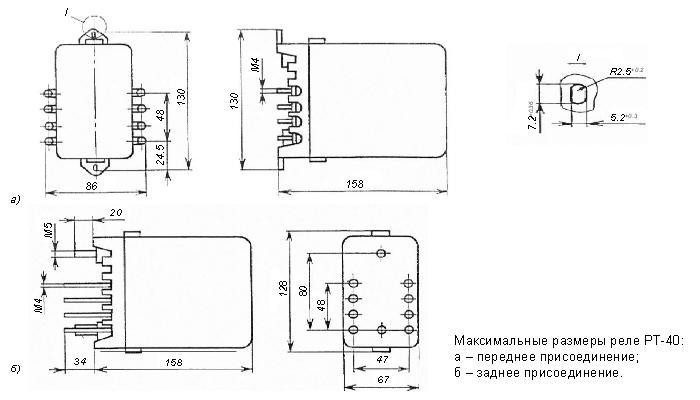 Габаритные размеры РТ-40