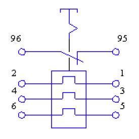 Схема РТТ5-10 с размыкающим контактом