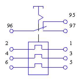 Схема РТТ5-10 с переключающим контактом