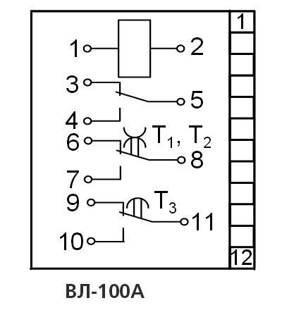 Схема подключения ВЛ-100А