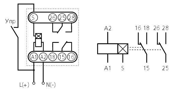 Схема подключения ВЛ-43