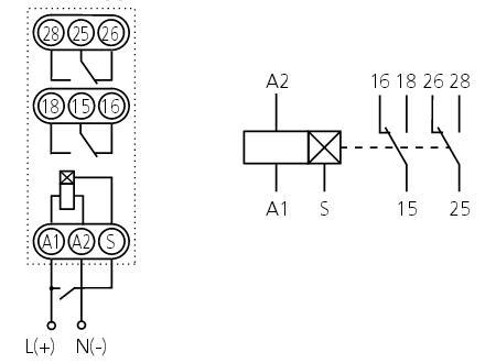 Схема подключения ВЛ-44