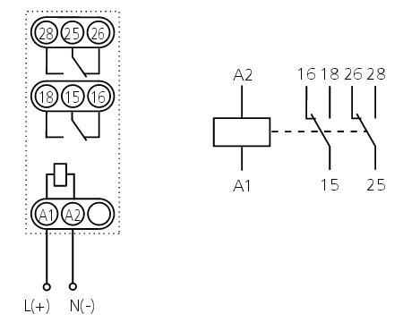 Схема подключения ВЛ-46