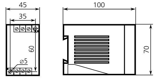 Габаритные размеры реле ВЛ-60Е